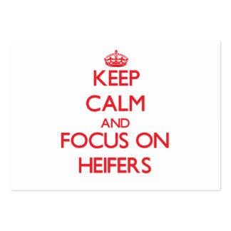 Keep Calm and focus on Heifers Business Card