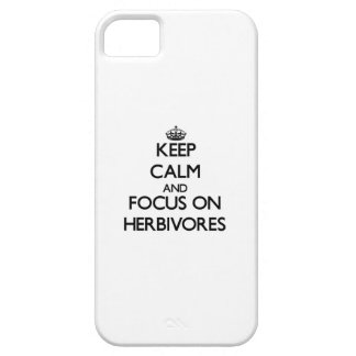 Keep Calm and focus on Herbivores iPhone 5 Cases