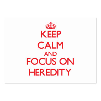 Keep Calm and focus on Heredity Business Card Template