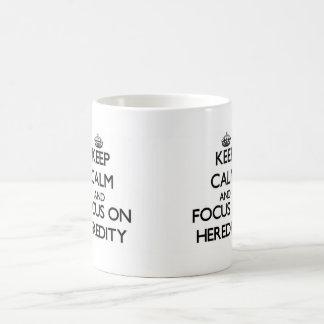 Keep Calm and focus on Heredity Coffee Mug