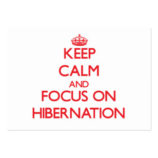 Keep Calm and focus on Hibernation Business Cards