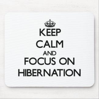 Keep Calm and focus on Hibernation Mouse Pad