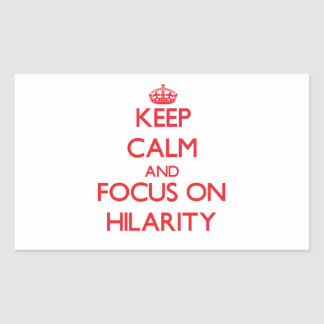 Keep Calm and focus on Hilarity Rectangle Sticker