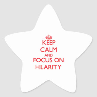 Keep Calm and focus on Hilarity Sticker