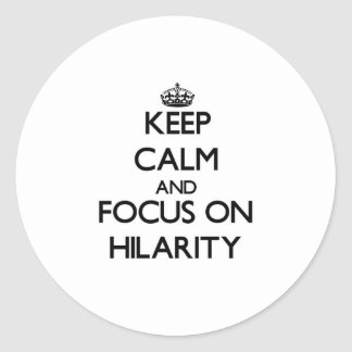 Keep Calm and focus on Hilarity Stickers