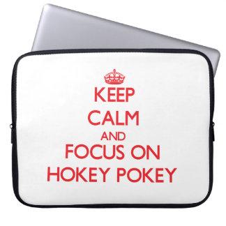 Keep Calm and focus on Hokey Pokey Computer Sleeve