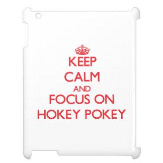 Keep Calm and focus on Hokey Pokey iPad Cover