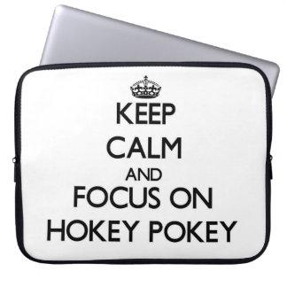 Keep Calm and focus on Hokey Pokey Laptop Sleeve