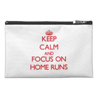 Keep Calm and focus on Home Runs Travel Accessory Bag