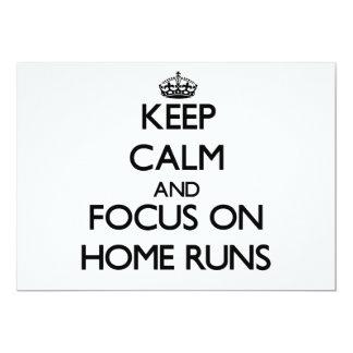 Keep Calm and focus on Home Runs 5x7 Paper Invitation Card