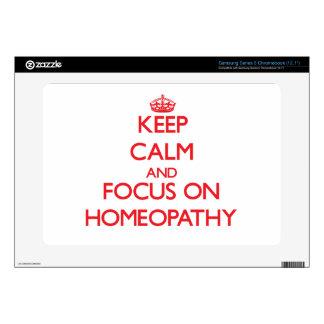 Keep Calm and focus on Homeopathy Samsung Chromebook Decal