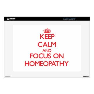 """Keep Calm and focus on Homeopathy 15"""" Laptop Decal"""