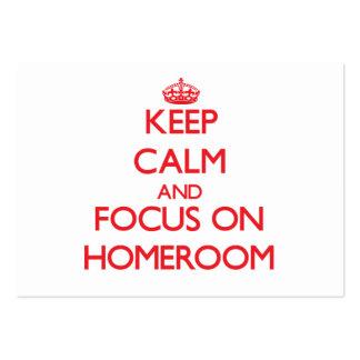 Keep Calm and focus on Homeroom Business Card Template