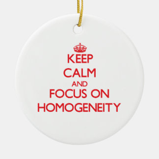 Keep Calm and focus on Homogeneity Double-Sided Ceramic Round Christmas Ornament