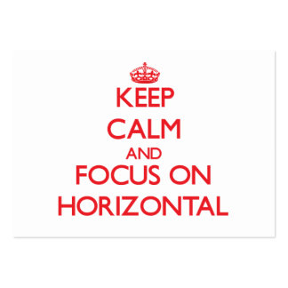 Keep Calm and focus on Horizontal Business Cards