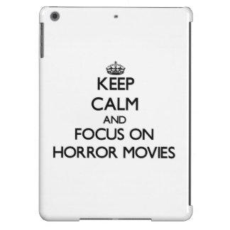 Keep Calm and focus on Horror Movies iPad Air Cover