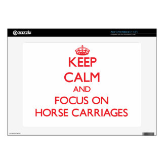 Keep Calm and focus on Horse Carriages Acer Chromebook Skins