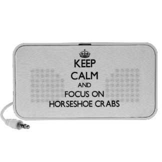 Keep Calm and focus on Horseshoe Crabs iPhone Speakers