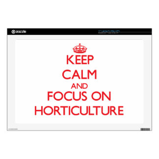 """Keep Calm and focus on Horticulture Skins For 17"""" Laptops"""
