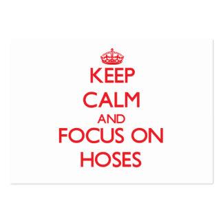 Keep Calm and focus on Hoses Business Card Templates