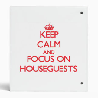 Keep Calm and focus on Houseguests Binder