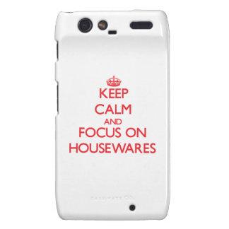 Keep Calm and focus on Housewares Droid RAZR Cases