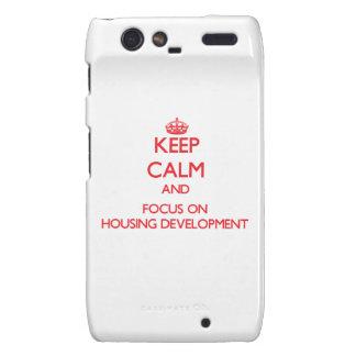 Keep Calm and focus on Housing Development rA_Razr Case