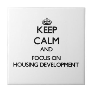 Keep Calm and focus on Housing Development Ceramic Tiles
