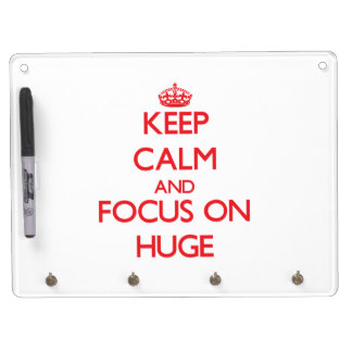 Keep Calm and focus on Huge Dry Erase White Board