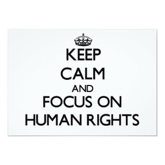 Keep Calm and focus on Human Rights Cards