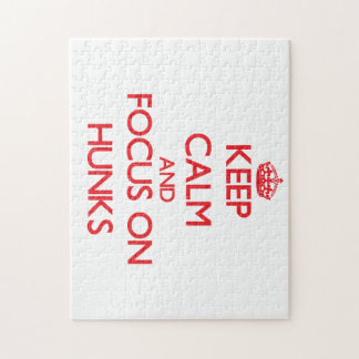 Keep Calm and focus on Hunks Puzzles