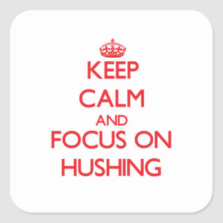 Keep Calm and focus on Hushing Stickers