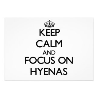 Keep calm and focus on Hyenas Personalized Invitation