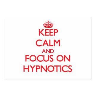 Keep Calm and focus on Hypnotics Business Card