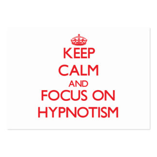 Keep Calm and focus on Hypnotism Business Card Template