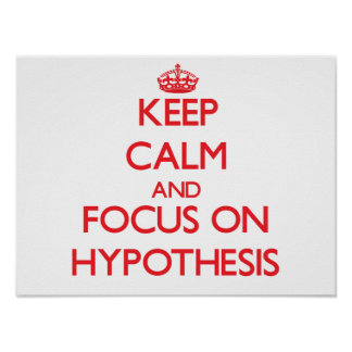 Keep Calm and focus on Hypothesis Posters