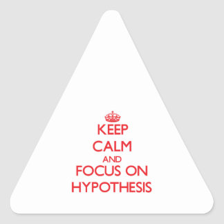 Keep Calm and focus on Hypothesis Triangle Sticker