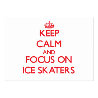 Keep Calm and focus on Ice Skaters Business Card
