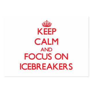 Keep Calm and focus on Icebreakers Large Business Cards (Pack Of 100)