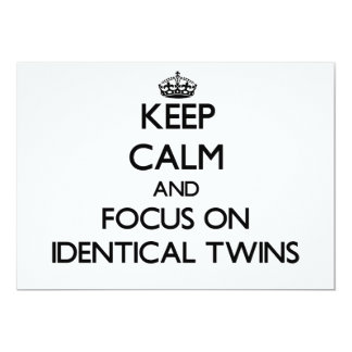 Keep Calm and focus on Identical Twins Custom Announcements