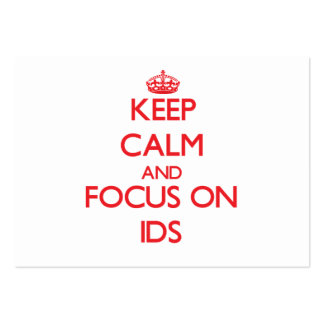 Keep Calm and focus on Ids Business Card Template
