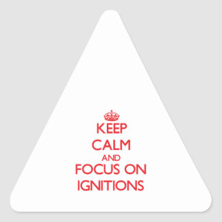 Keep Calm and focus on Ignitions Triangle Sticker
