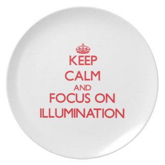 Keep Calm and focus on Illumination Dinner Plate