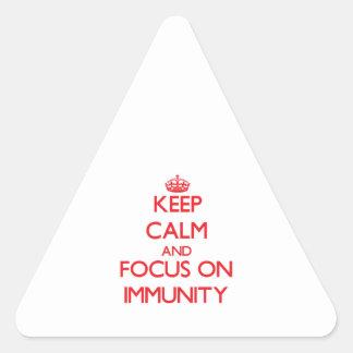 Keep Calm and focus on Immunity Triangle Sticker