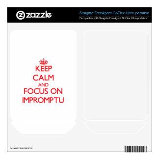 Keep Calm and focus on Impromptu FreeAgent GoFlex Skin