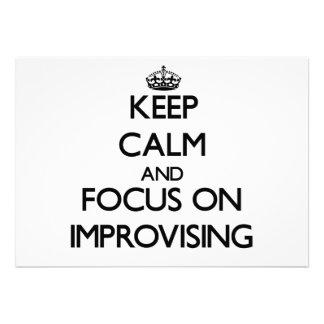 Keep Calm and focus on Improvising Custom Announcement