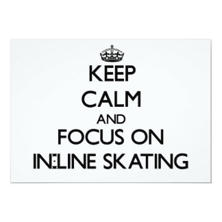 Keep Calm and focus on In-Line Skating Personalized Announcements