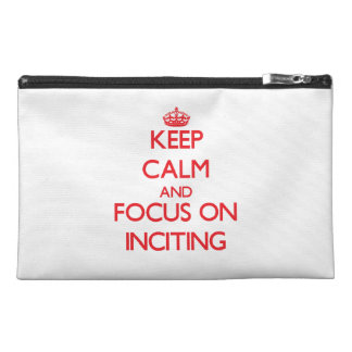 Keep Calm and focus on Inciting Travel Accessories Bag