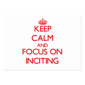 Keep Calm and focus on Inciting Large Business Cards (Pack Of 100)