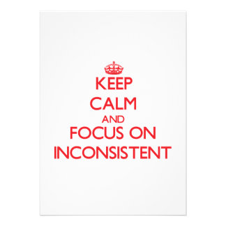 Keep Calm and focus on Inconsistent Personalized Announcements